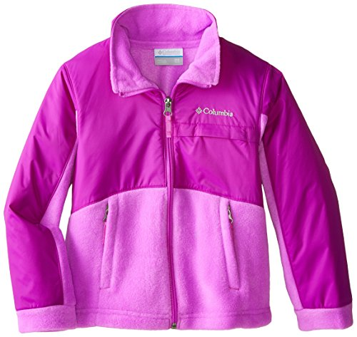 Columbia Little Girls' Benton Springs Overlay Fleece, Foxglove/Bright Plum, XX-Small