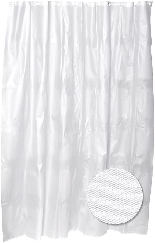 Zenna Home PEV1980291, Medium Weight PEVA Shower Curtain Liner, Clear