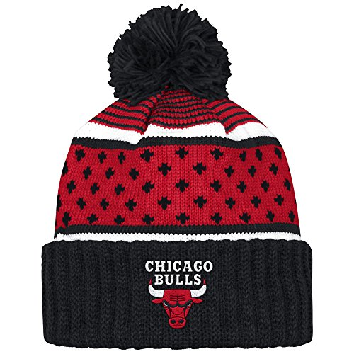 Mitchell And Ness Nba Highlands Cuffed Knit Hat With Pom BULLS