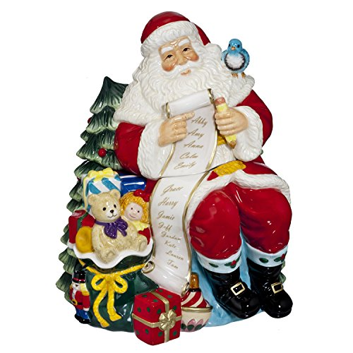 Waterford 2015 Holiday Heirlooms Ceramic Cookie Jar Santa with List ()