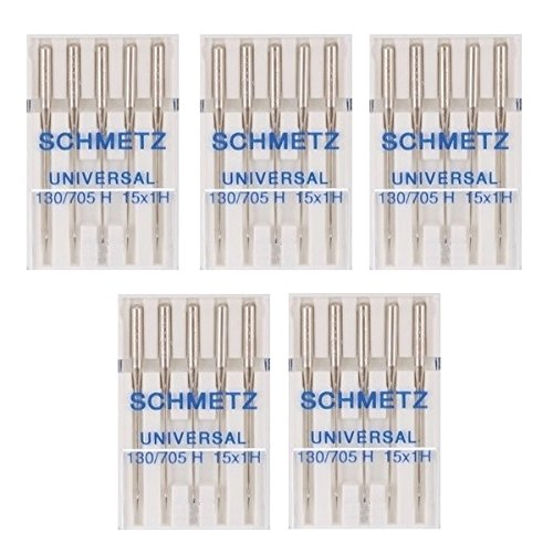25 Schmetz Universal Sewing Machine Needles 130/705H 15x1H Size - Embroidery Point Star