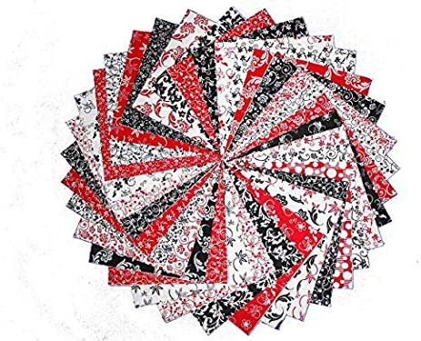 68 5 Beautiful Red and White Charm Pack