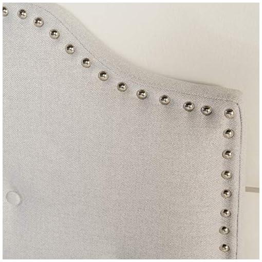 Bedroom Christopher Knight Home Austell Fabric Headboard, Queen / Full, Light Grey farmhouse headboards