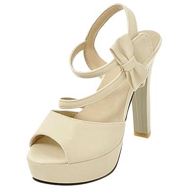 COOLCPET Damen Wedding Shoes Sandalen mit Absatz