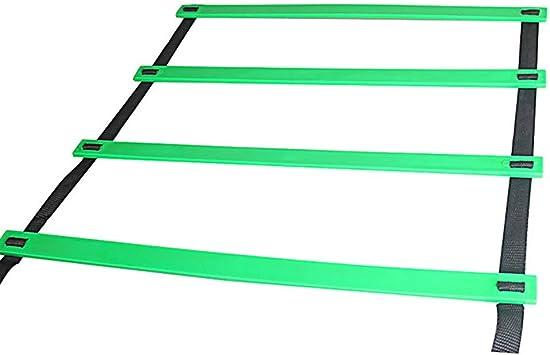 UNIVIEW Escalera for Agilidad, Deportes al Aire Libre 5M 9 peldaño, for Football Velocidad fútbol Llevar el Entrenamiento Bolsa Equipo de 4 Colores (Color : Green): Amazon.es: Electrónica
