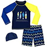 Baby Boys Two Piece Rash Guard Swimsuits Kids Long