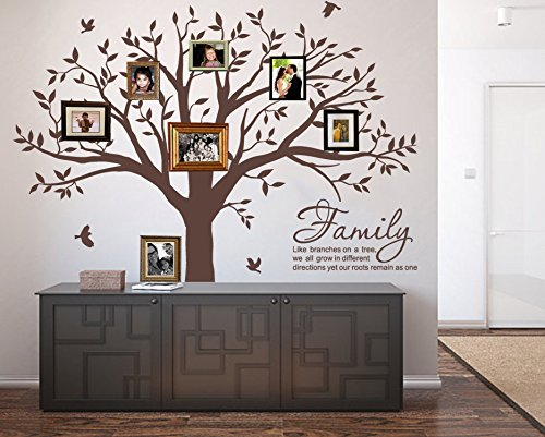 LUCKKYY Grant Family Tree Wall Decal with Family Like Branches on a Tree Wall Decal Sticker Quote Living Room Decor(83