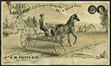 Coates Lock Lever Self Dump & Spring Seat Hay & Grain Rake folder ca 1880s