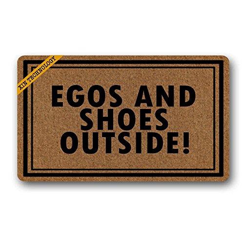 - Megamagci Doormats Egos And Shoes Outside Rubber Non-Slip Doormat Entrance Rug Floor Mat Durable Home Indoor Mats