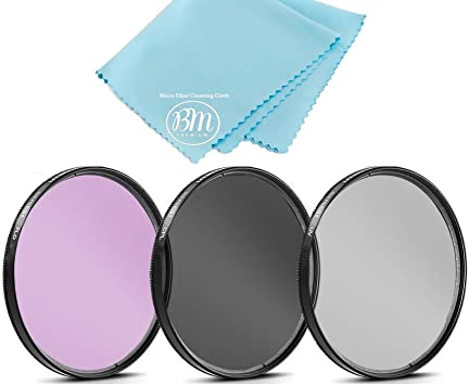 52mm Multi-Threaded Made by Optics Nwv Direct Microfiber Cleaning Cloth. Canon EOS 50D High Grade Multi-Coated 3 Piece Lens Filter Kit