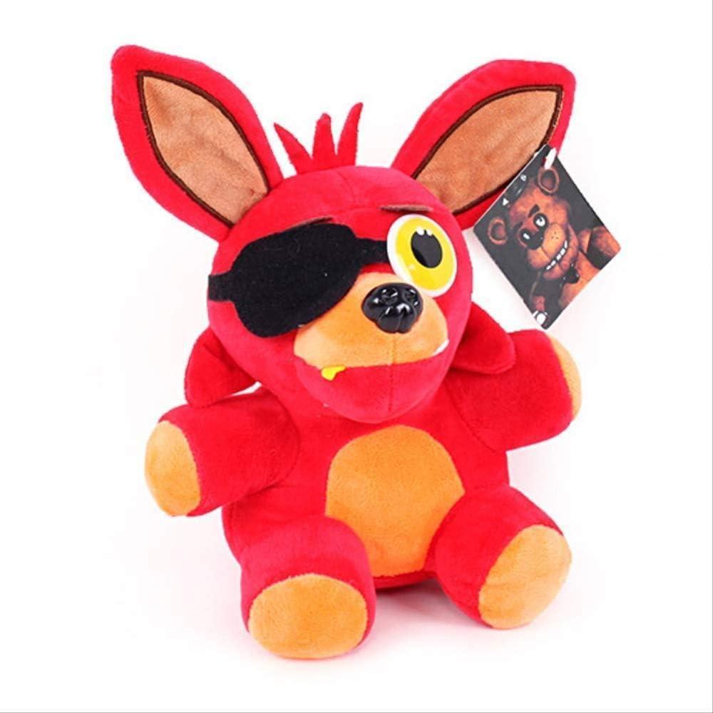 stogiit Peluche Suave Freddy Fazbear Bearfox Foxy Peluches Muñeca Peluches Juguetes Regalos para niños 25Cm