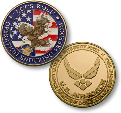 Enduring Freedom - Air Force Emblem MerlinGold (Operation Enduring Freedom Coin)