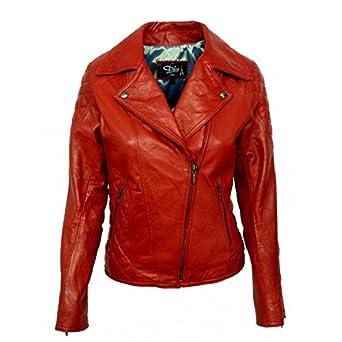 Blouson cuir femme moto