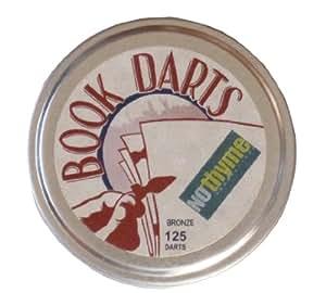 Book Darts Line Markers 125 Count Tin Bronze