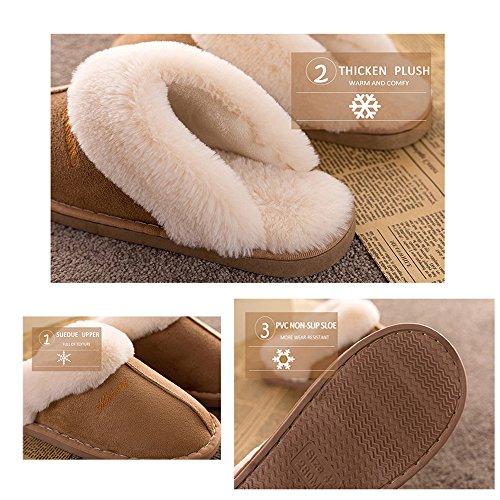 Womens-Slipper-Memory-Foam-Fluffy-Slip-On-House-Suede-Fur-LinedAnti-Skid-SoleIndoor-Outdoor