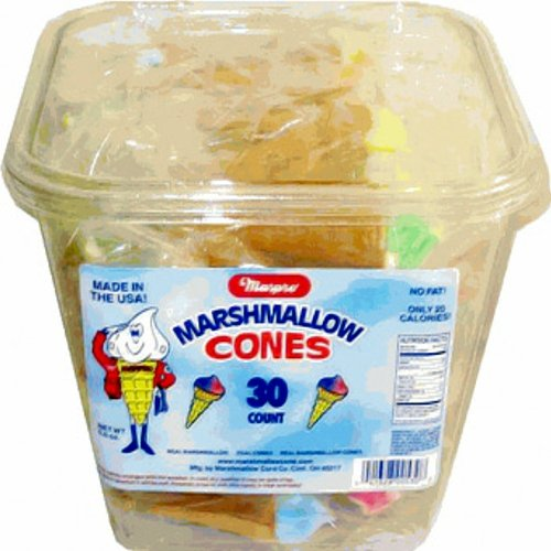 Marshmallow Cones-30 ct tub by Marpro