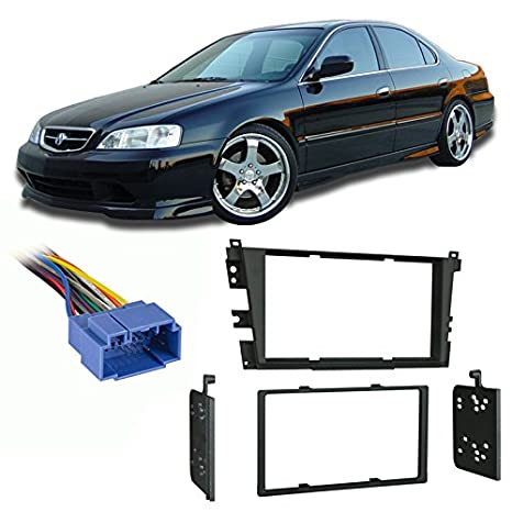 amazon com: fits acura tl 1999-2003 double din aftermarket harness radio  install dash kit: car electronics