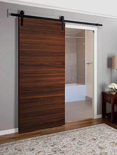 Planum 0010 Interior Sliding Flush Panel Modern Closet Wood Barn Door Chocolate Ash Brown 30