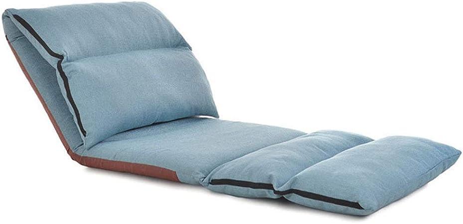 Sedia da terra pieghevole TV guardare o giocare Design elegante,A,S per Meditazione Seminari Sedia da pavimento Tatami Sedia da schienale Lettura Divano pigro Sedile da meditazione con cuscino