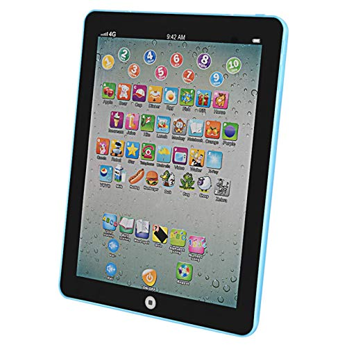 Kptoaz Learning Tablet for Kid, Children Smart Educational Tablets Baby Electronic Learning Pad Children Educational Multifunctional Early Education Machine for Boys and Girls (Blue)