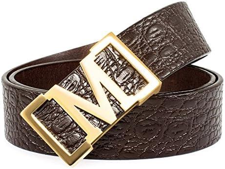 Mancala Men/' s Belt Leather Waist Belts for men Packed in Brand Gift Box