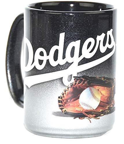 Los Angeles Dodgers Jumbo 15oz Black & Chrome Glove Mug ()