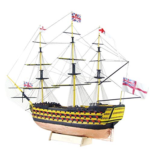 HMS Victory 3D Wooden Puzzle DIY Ship Craft Laser-Cut Model Kits to Build for Adults 1:200