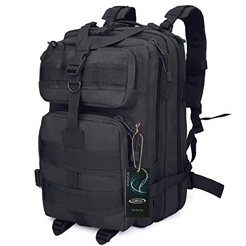G4Free Sport Outdoor military backpack tactical backpack molle backpack military rucksack Camping Hiking Trekking Bag Custom Design 40L (Black)