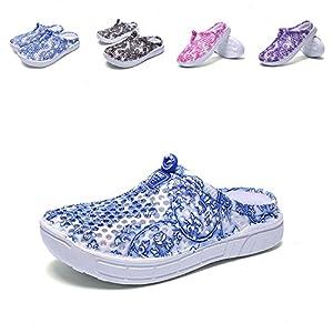 Puremee Womens Summer lightweight Breathable Mesh slippers,Sandals,Beach Footwear,WaterShoes,Walking,Slip-On,Garden Clog Shoes