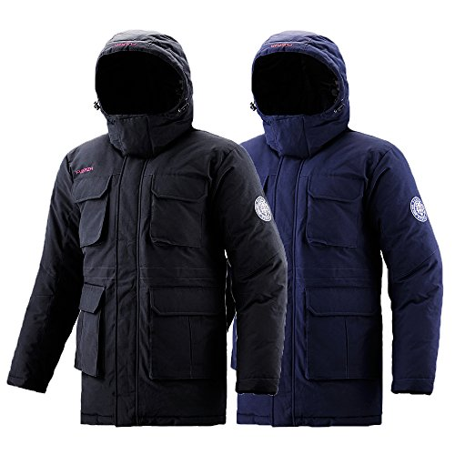 Fuerza Mens Winter Down Wellon Collection Durable Hooded Parka ...