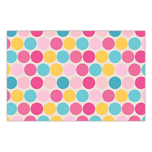 Whimsy Mat - DB Party Studio 25 Pack Paper Place Mats Baby Shower Sprinkle Table Setting Decorations Polka Dot Whimsy Boy Girl Gender Neutral Brunch Lunch Parties Mommy-to-Be Event 17