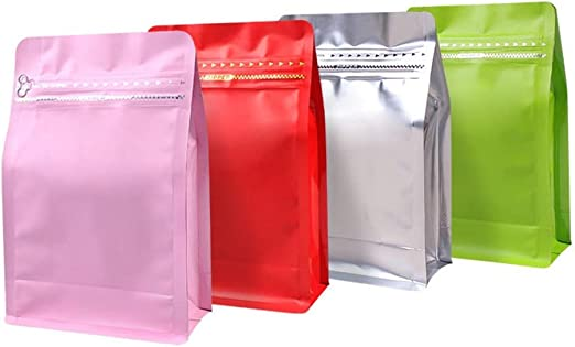 Heat Seal Aluminium Foil Stand Up Bags Storage Vacuum Pouches Food Grade Red