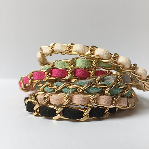 Chain Bracelet, Suede woven chain bracelet,Friendship Bracelet