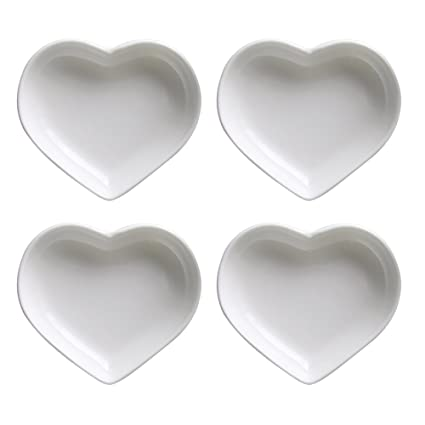 SOCOSY Heart-shaped Multipurpose Ceramic Sauce Dish Seasoning Dishes Sushi Dipping Bowl Appetizer Plates Serving  sc 1 st  Amazon.com & Amazon.com | SOCOSY Heart-shaped Multipurpose Ceramic Sauce Dish ...