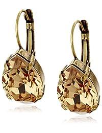 Sorrelli Classic Crystal Teardrop French Wire Drop Earrings