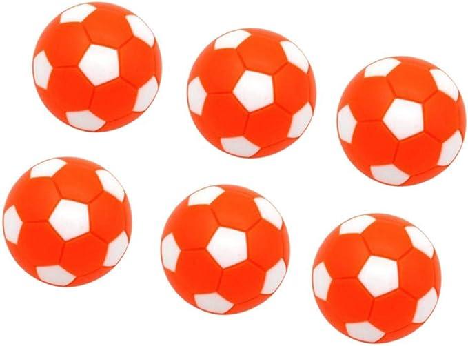 MagiDeal Paquete De 6 Balones Deportivos De Fútbol De Mesa De Futbolín - Mini Balones De Fútbol Balones De Fútbol De Mesa 32 Mm Naranja: Amazon.es: Juguetes y juegos