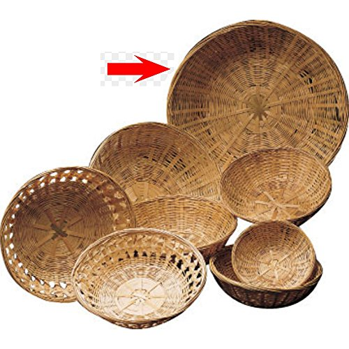 (14 x 4 1/2 Round Bamboo Basket Closed Weave)