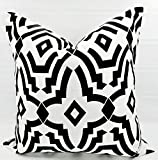 Black & white Chevelle Pillow cover. Sham cover. throw Pillow cover. Select size.