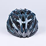ZX MOON 27 Vents PC+EPS Integrally-molded Black and Blue Cycling Helmet (56-62cm) , Blue and Black , M