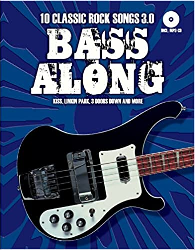Book Bass Along: 10 Classic Rock Songs 3.0 (Book/CD)