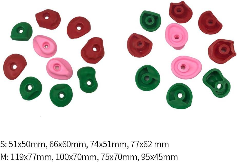avec cl/é pour lint/érieur et lext/érieur des enfants avec prise en main en PE pour la remise en forme Lot de 10 pierres descalade de couleur mixte pour lentra/înement de la force adultes,Taille S