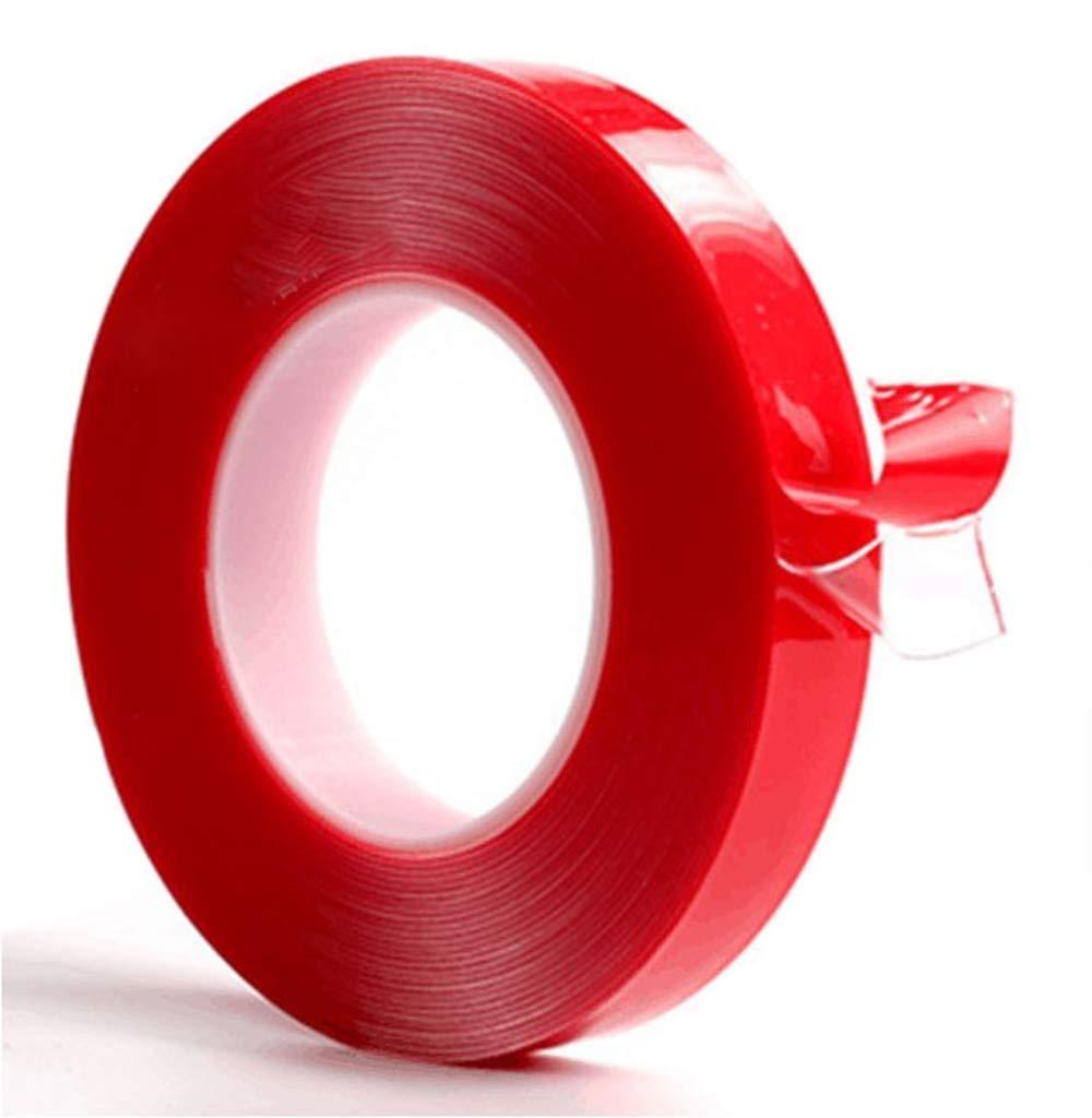Ruban adhésif double face acrylique extra forte 5m 12mm pour bandes lED 220V jusqu'à 14mm Transparent résistant à la chaleur. Acrylic Pet (5m long, 12mm de large, 1mm épaisseur)