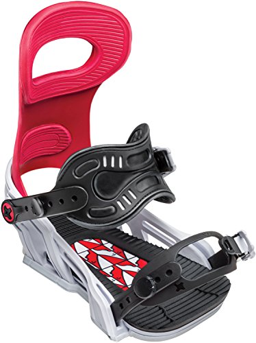Bent Metal Transfer Snowboard Bindings Forest Bailey White/Red Mens Sz L (11-14)