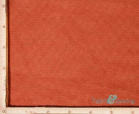 Dark Rust Orange Small Hole Net Netting Fabric 2 Way Stretch Polyester 58 60quot
