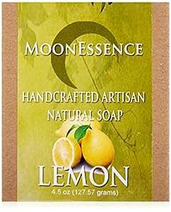Moonessence Organic Bar Soap, Lemon, 4.5 Ounce