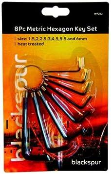 Blackspur 14pc Hexagon Key Set metric sizes 1.5 2.5,3,4,5.5,6mm Allan Wrench UK