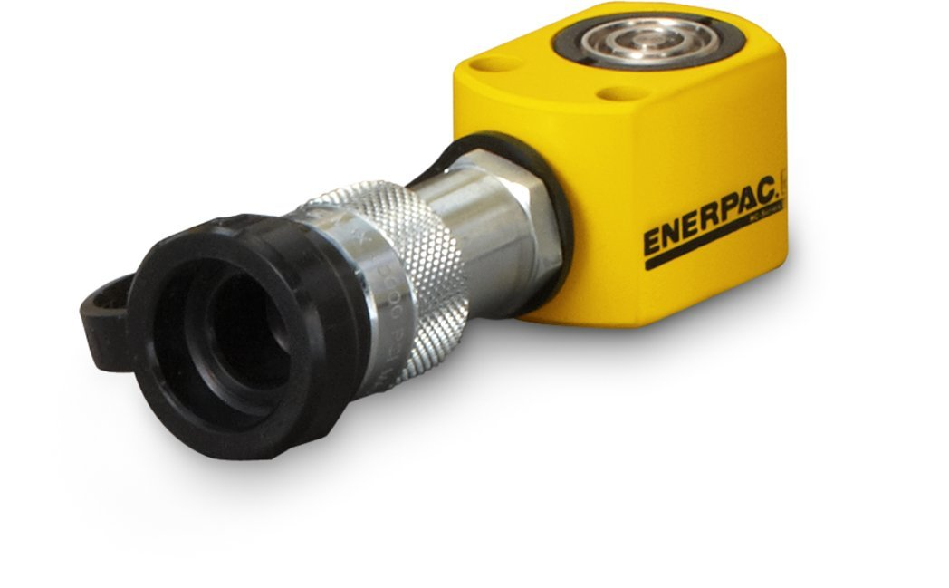 Enerpac RC-50 Single-Acting Alloy Steel Hydraulic Cylinder with 5 Ton Capacity, Single Port, 0.63'' Stroke