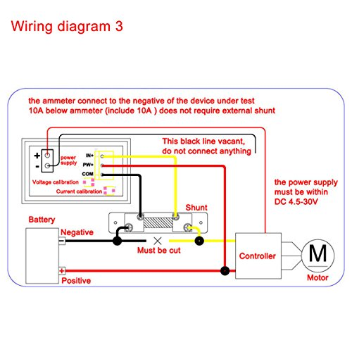 51wd3CNgCGL amazon com drok digital current tester multimeter dc 100v volt 2a 100v speaker wiring diagram at virtualis.co