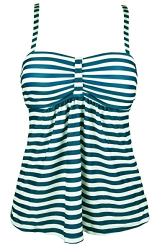 Cocoship Vintage Sailor Striped Tankinis