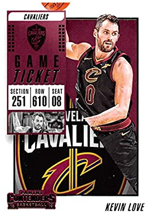 3fb14c0e5 2018-19 Panini Contenders Game Ticket Fat Pack Exclusive Green Basketball   64 Kevin Love